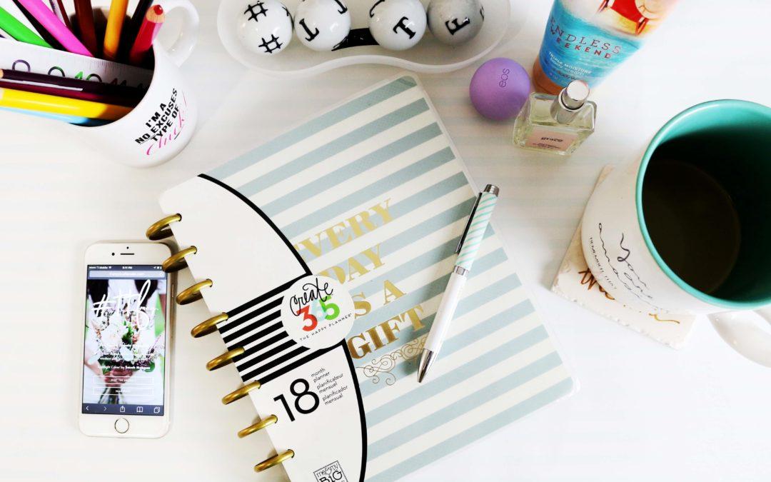 Journal on a creative desk